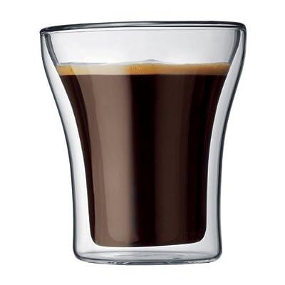 Bodum 1807-16 Assam Théière à Piston Filtre inox Finition Inox Brillant 0,5 L + Set de 2 verres double paroi Assam 25 cl