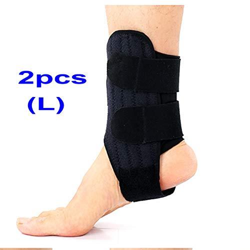 meacom 2 PCS Sport Knöchelbandage, Fußgelenk Bandage Knöchelschutz Einstellbare Kompression Sprunggelenkbandage Fußgelenkstütze für Fußball Basketball