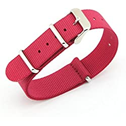 Owfeel(TM) Red Nylon Watch Band Strap Replacement Watch Belt