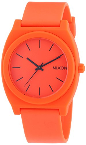 Nixon Unisex-Armbanduhr The Time Teller P Neon Orange Analog Quarz Kautschuk A1191156-00 (Nixon Uhren Herren Time Teller P)