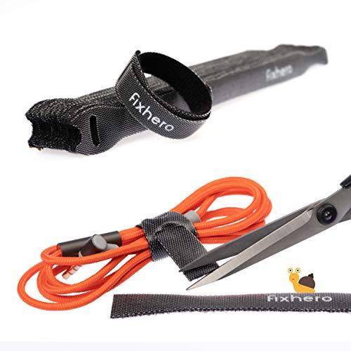 tt Kabelbinder (20cm) wiederverwendbar und individuell anpassbar - highquality Klettkabelbinder stark und wiederverschließbar - Kabelbinder mit Klettverschluss für Kabelmanagement ()