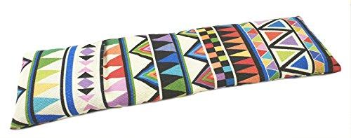 Saco térmico cervical de semillas de trigo con funda lavable 50x16cm Delta multicolor
