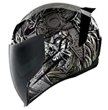 Icon Motorrad Airflite Helm Krom Silver NEUHEIT 2019, Größe: Größe XXL (63-65)