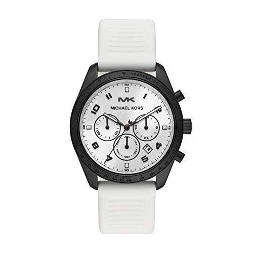 Michael Kors Mens Chronograph Quartz Watch with Silicone Strap MK8685