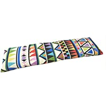Saco térmico cervical de semillas de trigo con funda lavable 50x16cm (Delta multicolor)