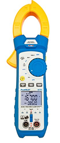 PeakTech 1670 - True RMS Stromzange mit 4.0 Bluetooth & App 1000A AC/DC, LED-Lampe, 50000 Counts, Multimeter, Zangenmessgerät, TÜV/GS, Strommesszange, Spannungsmesser, Strommessgerät, Durchgangsprüfer
