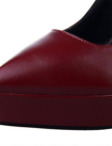 WSS 2016 Chaussures Femme-Extérieure / Bureau & Travail / Soirée & Evénement-Noir / Blanc / Gris / Bordeaux / Amande-Talon Aiguille-Talons / Bout black-us5.5 / eu36 / uk3.5 / cn35