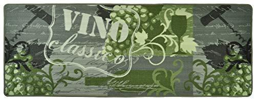 Hanse Home 102083 Teppichläufer, Polyamid, grau / grün, 67 x 180 x 0.8 cm