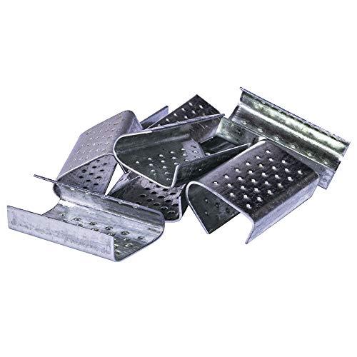 Linder Verschlusshülsen für PP-Band - Hülsen zum Verschluss für ein Kunststoff-Umreifungsband - 16x28x0,5mm (1.000 Stk./Karton)