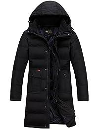 48aea99ec884 moxishop Männer Casual Hooded Daunenmantel Verdicken Winter warme Jacke  Outwear Long Parka