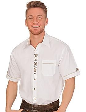 Trachten Herren Hemd mit 1/2 Arm - Lenz - Weiß