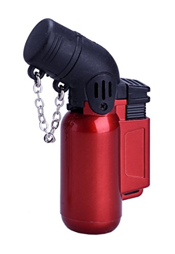 PROF Metal Doppio Jet Blueflame Gas Lighter Cigarette Cigar Sport Kitchen Camping PROF (rosso)