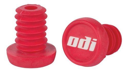 ODI Bar End Plug Ersatz Lenker Enden Stopfen 1 paar (2St) + Fantic26 Sticker (Rot) -