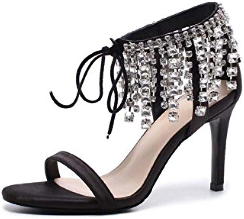 GONGFF Remaches De Fondo Negro, Zapatos Planos, Zapatos De Mujer, Zapatos Puntiagudos Y Zapatos De Ballet Laterales,Black,46 46|Black