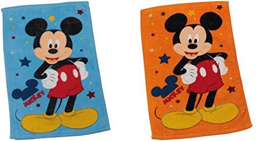 KISENE Disney Set 2 Mini Asciugamani Puro Cotone 30 x 50 ciascuna