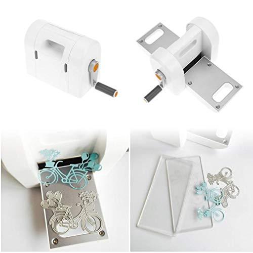 Oulensy Stanzen Prägemaschine Scrapbooking Cutter Stück Gestempelschnitten Papierschneider Die-Cut-Maschine Startseite DIY Prägestempel-Werkzeug