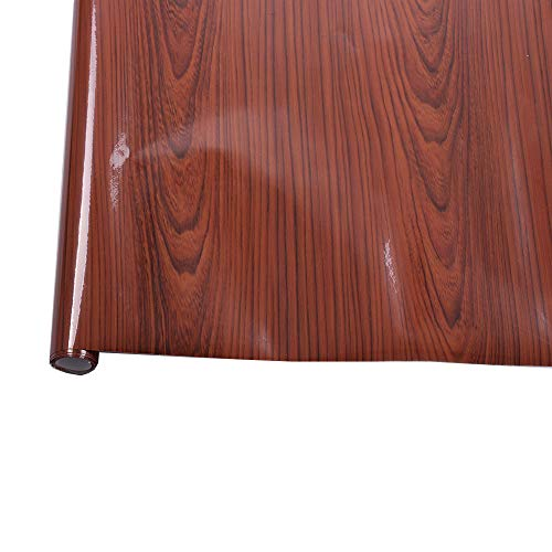 (HOHO Abmessungen 30x 100cm Hochglanz Holz Maserung Kontakt Papier Selbstklebendes Vinyl KFZ-Innenraum Wrap Holz Papier)