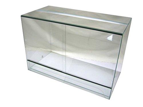 Terrarium 100x50x80 cm mit Schiebetür, Glasterrarium, Schlangen Bartagamen Gekkos