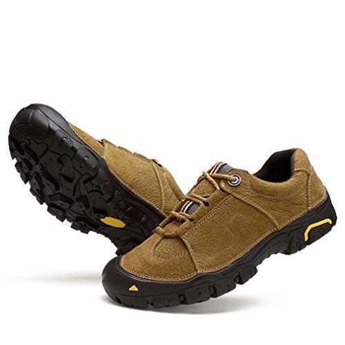 Herren Damen Walking-Schuhe Freizeit wasserdichte im Freien wandernde Trekking Low Unisex Schuhe Khaki