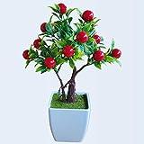 ZTTLOL Emulieren Simulation Künstliche Bonsai Dekorative Künstliche Blumen Falsche Berry Topfpflanzen Ornamente Dekoration Ihres Hauses
