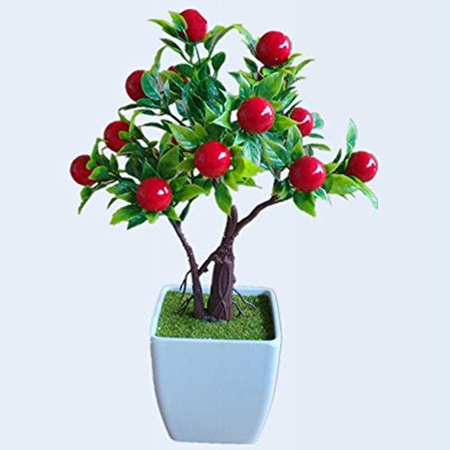 ZTTLOL Emulieren Simulation Künstliche Bonsai Dekorative Künstliche Blumen Falsche Berry Topfpflanzen Ornamente Dekoration Ihres Hauses (Hortensie Voller In Größe)