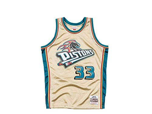 t Hill #33 Detroit Pistons 1998-99 Gold Collection NBA Trikot, S ()