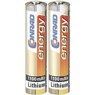 Konrad 650554Lithium, 1,5V Batterien battery–Batterien Akkus (Lithium, CYLINDRICAL, 1,5V, AAA, 1100mAh, 10Year (S))