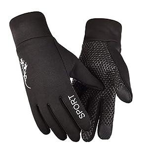 LIOOBO Winter warme handschuh Sport Winddicht handschuh rutschfeste Handschuhe für männer Frauen Laufen im freien Angeln wandern freie größe (weiß)
