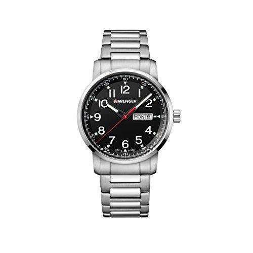 WENGER Reloj Analogico para Unisex de Cuarzo con Correa en Acero Inoxidable 01.1541.107