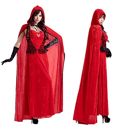 Peggy Gu Lingerie di Natale per Le Donne Costume da DS di Ballo di Natale con Cappuccetto Rosso Sexy per Adulti Rosso Sexy Babbo Natale Body