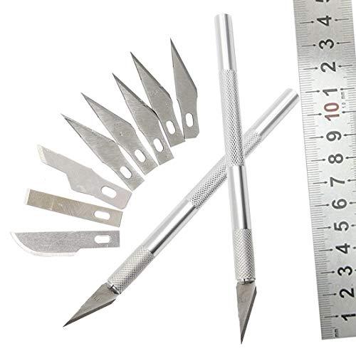 zeug 9 STÜCKE Handwerk Skulptur Klingen Holzschnitzerei Werkzeuge Obst Lebensmittel Gravur Messer Skalpell DIY Schneidwerkzeug Reparatur Handwerkzeug Sets ()
