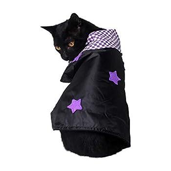 Animal De Compagnie Chat Petit Chien Halloween Noël Plaid Grands Vêtements Cape Réglable Longueur De La Mode,S