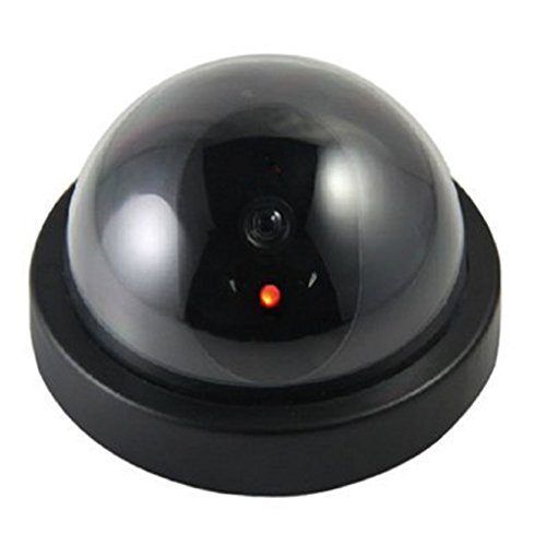 Magnusdeal® DOME CCTV BLINKING LED DUMMY SECURITY CEILING CAMERA.  available at amazon for Rs.399