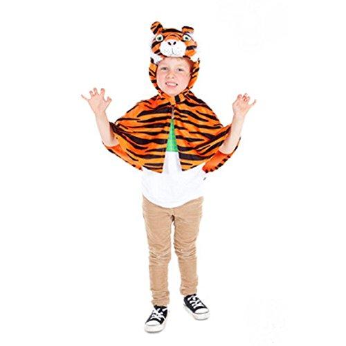 Kinder, Kleinkinder, Tiger Cape Kostüm 3-6 Jahre ()