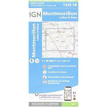 Montmorillon, Lathus-St-Rémy : 1/25 000