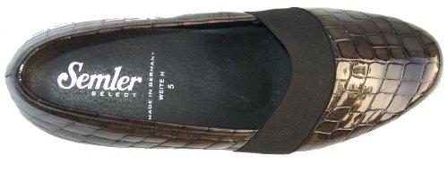 Semler V4016-060-002 Vera Damen Slipper Lack anthrazit Anthrazit