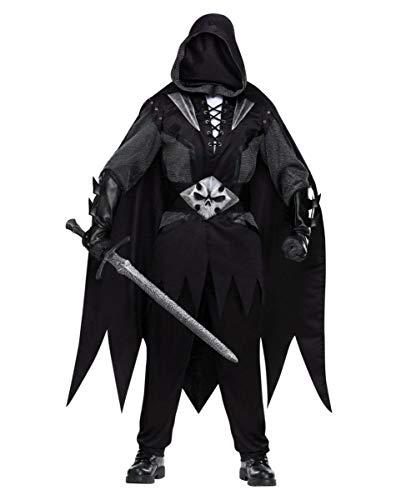 Horror-Shop Schwarzer Ritter Kostüm mit Maske | One Size