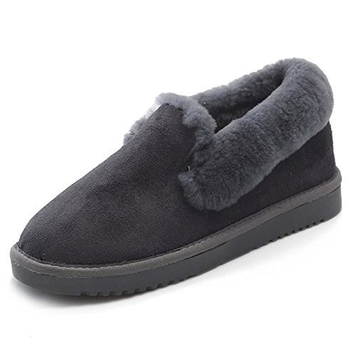 Scarpe donna pu Autunno Inverno Comfort Snow Boots stivali punta tonda per Casual Beige verde nero,Beige,US7.5 / EU38 / UK5.5 / CN38 Beige