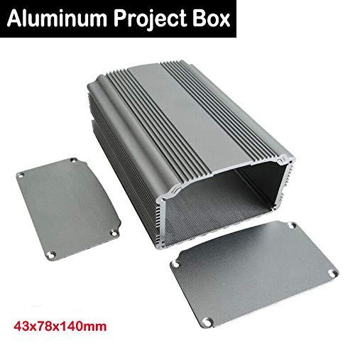 SENRISE Aluminium-Projektbox, (XD-81) Aluminium-Instrument Elektro-Projekt-Box Elektronisches Gehäuse DIY für Leiterplatte, 43 x 78 x 100 mm, silber -