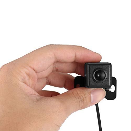 Universal Auto Rückfahrkamera CATUO Mini Farbkamera Einparkkamera mit 4 LED Nachtsicht und 170° Winkel für Rückfahrsystem Einparkhilfe - Wasserdicht & Stoßfest