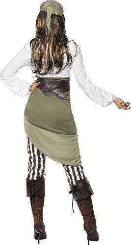 Matrosen-Zuckerpuppe Kostüm Oberteil Rock Leggings Kopftuch Gürtel und Überstiefel - 2