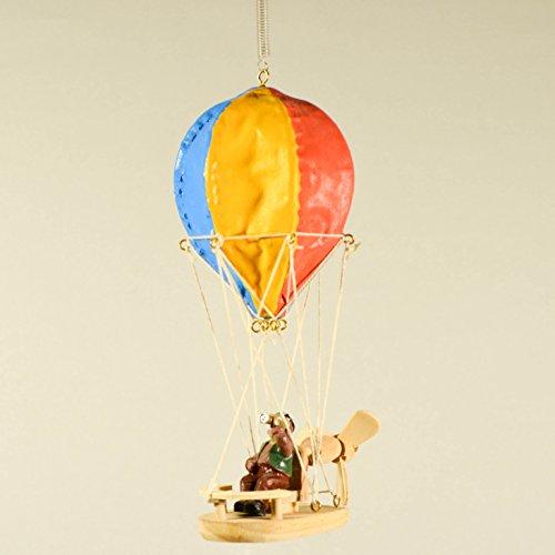 Air Ballon mit Pilot Man-Kinderzimmer Decor Mobile-Holz Mobile Mini Heißluftballon ()
