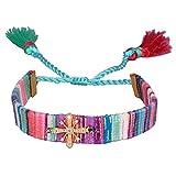KELITCH Bohemian Strands Bracelets Coloré Gland Wrap Bracelets Charme Styles Bijoux (Flocon De Neige