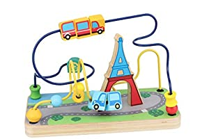 Iwood- Laberinto para Bebé de Madera Diseño Torre Eiffel, (12012)