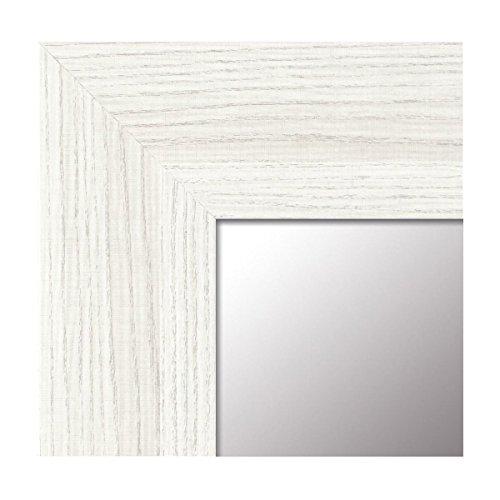 -Espejo Fabricado en España - tamaño 64x164 cm. Espejo Decorativo de Pared Modelo 189 Blanco, Ideal...