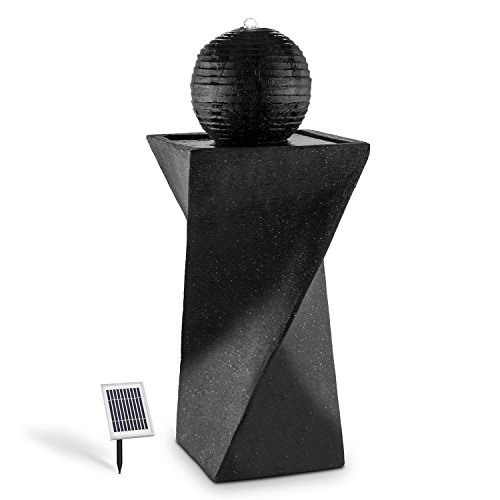 Kleinen Schwarzen Granit Top (Blumfeldt Schönbrunn Kugelbrunnen • Gartenbrunnen • Solarbrunnen • Pumpe mit 200 Liter/h Durchfluss • 2 Watt Solarpanel • 300 cm² Photovoltaikfläche • integrierter Akku: 2000 mAh • Akku-Betrieb: max. 8 Stunden • witterungsbeständig • LED-Beleuchtung • schwarz)