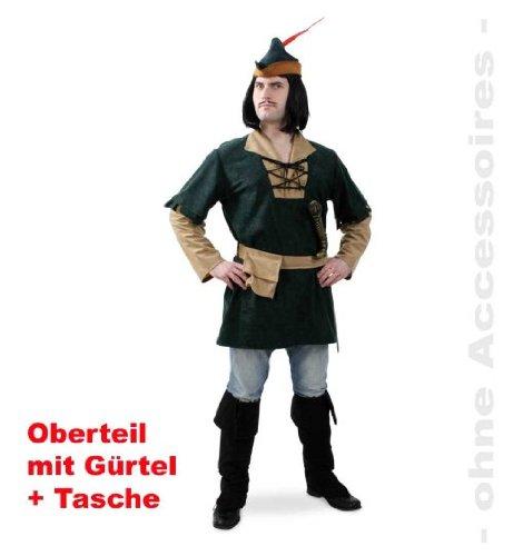 Robin Oberteil XXL mit Gürtel + Beutel Fasching Unisex Gr L XXL (Königin Der Schwerter Mittelalter Kostüme)