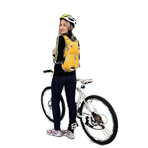 Outdoor lokale Löwe Rucksack Radfahren Tagesrucksack 12L Hydration Packungen Radfahren Rucksack Ourdoor Wandern Radfahren Trekking Bergsteigen Camping Reisen Gelb