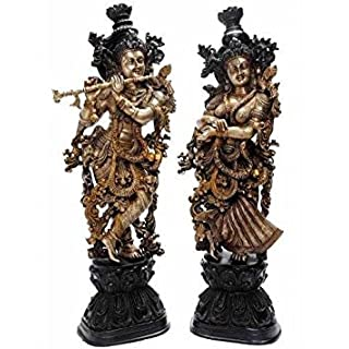 Aakrati Goddess Radha Ji Brass Statue Unique Gift And Decorative Figure Antique