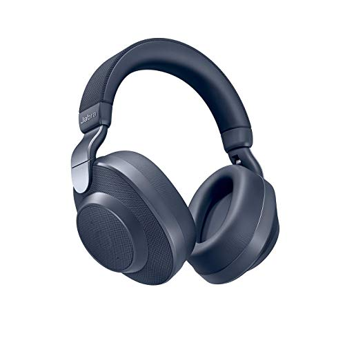 Jabra Elite 85h Bluetooth Active Noise Cancelling Kopfhörer (Over Ear, bis zu 36 Std. Akkulaufzeit mit ANC, SmartSound Technologie, Sprachsteuerung, Alexa, Siri, Google Assistant) navy blau